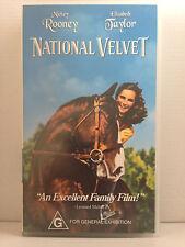 NATIONAL VELVET ~ ELIZABETH TAYLOR, MICKEY ROONEY ~ AS NEW VHS VIDEO