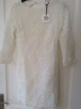 LADIES TRUE DECADENCE WHITE LACE DRESS. SIZE 10. BNWT. RRP £50