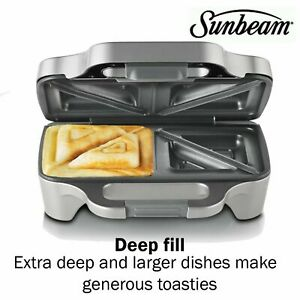 Sunbeam Toastie Jaffle Sandwich Grill Press Maker DEEP DISH Electric  Cut Seal
