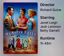 "16mm Feature Film ""My Sister Eileen"" Janet Lee Jack Lemmon B&W of C flat of S"