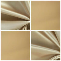 Cotton Sateen Cream Curtain Lining Fabric  Free UK postage