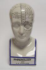 Porzellanfigur Porzellan Figur Büste Phrenologie Kopf Medizin Schädellehre H30cm