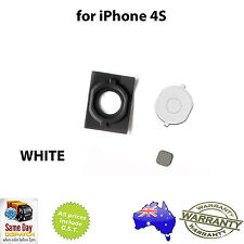for iPhone 4S - Home Button With Rubber Pad - WHITE -  FAST FREE SHIPPING