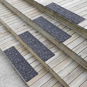 "6 Pcs Stair Treads Non-Slip Indoor Outdoor Gray 8.5"" x 30"""