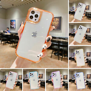 Clear Case For iPhone 13 12Pro Max 11 X 8 7+ Shockproof Bumper Transparent Cover
