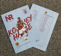 Aston Villa v Wolves Wolverhampton BCD Programme 27/6/20! READY TO POST!