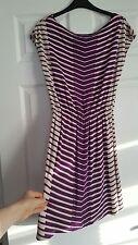 Ladies Size 10 Retro Stripey Summer Dress