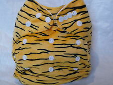 Brand New Cloth Pocket Diaper Microfiber Insert Minky Tiger Boy/Girl Eb0116