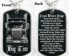 TRUCK DRIVER'S PRAYER - Dog tag Necklace/Key chain + FREE ENGRAVING