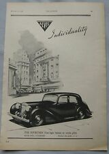 1946 Alvis Fourteen Four Light saloon Original advert No.1