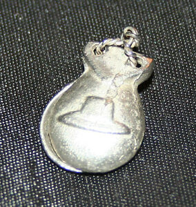 F37 SOLID SILVER SPANISH MUSICAL INSTRUEMENTS CASTANETS CHARM / PENDANT