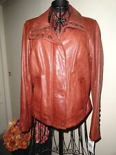 ANDREW MARC Whiskey Brown Leather Jacket SMALL ~ NWT! $595 Nordstrom