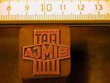 FIAT simca Logo belle Oldtimer CACHET/sceau en métal