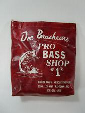 Vintage Bass Pro Shop Reel Bag Don Brasheart Rayton MO Fishing Outdoors