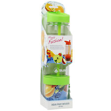 Summit 750ml Fruit Juice Infusing Infuser Water Bottle Drinks Tumbler Green