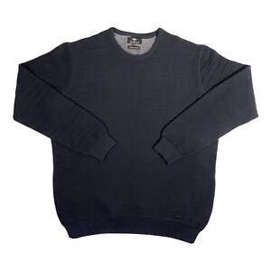 Men's XL Fynch Hatton Navy Soft Cotton Crew Neck Long Sleeve Jumper XL