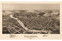 Clearfield, Clearfield County, Pennsylvania. Antique Birdseye Map; 1895