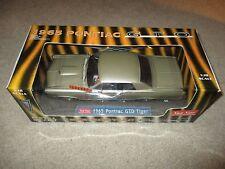 Sun Star 1965 Pontiac GTO Tiger Edition Diecast Silver 1:18 Scale MIB