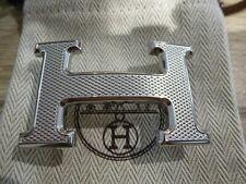 Boucle de ceinture Hermès argent Guillochée neuve jamais portée + dustbag Hermès