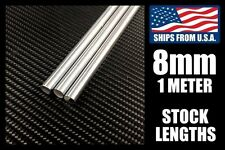 8mm x 1000mm Linear Shafts/Rods, Hard Chrome Meter Stock for CNC/3D Printers