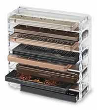 Acrylic Palette Makeup Organiser With Removeable Dividers Designed To Stand  Lay