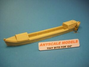 OO gauge model railway 1:76 scale 4mm Canal narrow boat with open hold 0270
