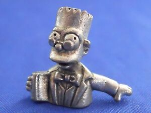 Clue Simpsons Bart Prof. Plum Token Replacement Pewter Piece 1st Edition 2000