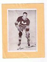 1935-40 Dave Trottier #52 Montreal Maroons Crown Brand Premium Hockey Photo