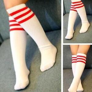 Knee High Socks 45Cm Kids Girls Cute Fancy Stripe Design Sporty Socks