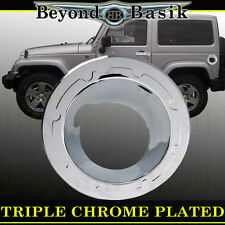 07-16 JEEP WRANGLER Triple ABS Chrome Fuel Gas Door Tank Filler Housing Cover
