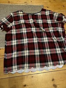 New Look Inspire Top Size 24 Plaid