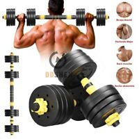 Details about  /Totall 110LBS Weight Dumbbell Set Adjustable Cap Gym Barbell Plates Body Workout