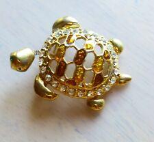 BROOCH vintage Golden turtle