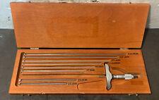Starrett No445m 0 200mm Depth Micrometer Inspection Machinist Lathe