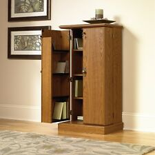 Media Storage Cabinet DVD CD Video Games Multimedia Tower Stand Organizer Shelf