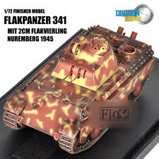 DRAGON FLAKPANZER 341 MIT 2CM FLAKVIERLING NUREMBERG 1/72 tank model finished