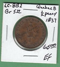 1837 Quebec 1/2 Penny Token - Br 522 - EF