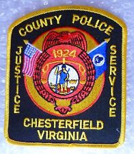 Patch- Chesterfield County Virginia US Police Patch (New*apx. 115x95 mm)