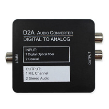 Wiistar Digital to Analog Digital SPDIF Toslink to Analog Stereo Audio L/R with