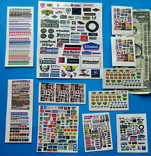 HO 1:64 SLOT CAR DIECAST Cut & Peel CLEAR STICKERS,SHOP SIGNS,HOOKER PENNZOIL