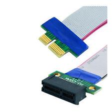 Riser Card PCI-E PCI-Express 1X Slot Extender Extension Ribbon Flex Cable Lead