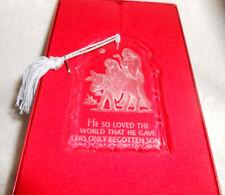 Lenox Inspirational Treasures of the Heart - God's Gift. Nativity Glass Ornament