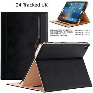 iPad 9.7 Case Cover Genuine Luxury Leather Flip High Quality Air Air2 Pro-9.7