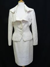 VINTAGE OSCAR DE LA RENTA PAISLEY BROCADE FABRIC BOUTIQUE JACKET & SKIRT DRESS