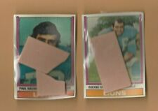 1974 Topps Cello 2 Football Mini Fun Bag Packs LIONS on top both (ONE OF KIND)