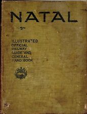 """SIGNED BY AUTHOR  C.W.FRANCIS HARRISON - """"NATAL RAILWAY GUIDE"""" - HB (1903)"""