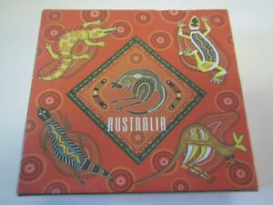 A BEAUTIFUL SOUVENIR SET LOT OF 6 AUSTRALIA ABORIGIONAL ART TABLE DRINK COASTERS