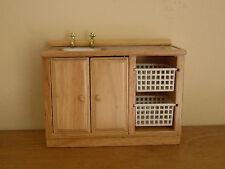 Dollshouse Miniature   ~ MODERN ~ Kitchen Sink With Baskets