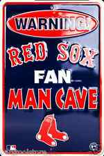 Boston Red Sox Warning Fan Man Cave TIN SIGN FENWAY PARK METAL NEW GAMEROOM