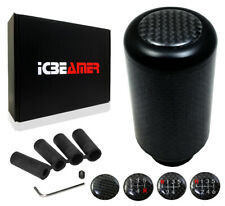 JDM Black Aluminum w/ Carbon Fiber Manual Gear Stick Shift Knob 5 6 Speeds U47